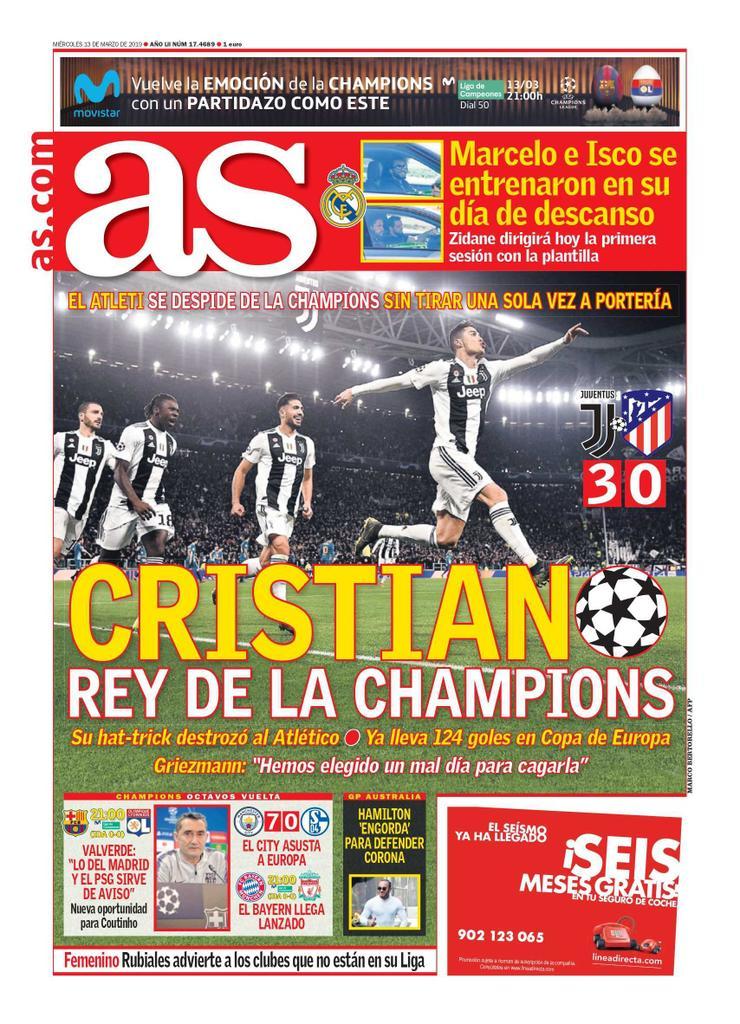 AS Cristiano Rey de la Champions