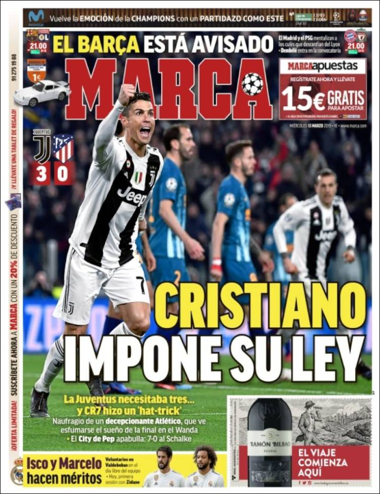 Marca Reaction Ronaldo Atleti