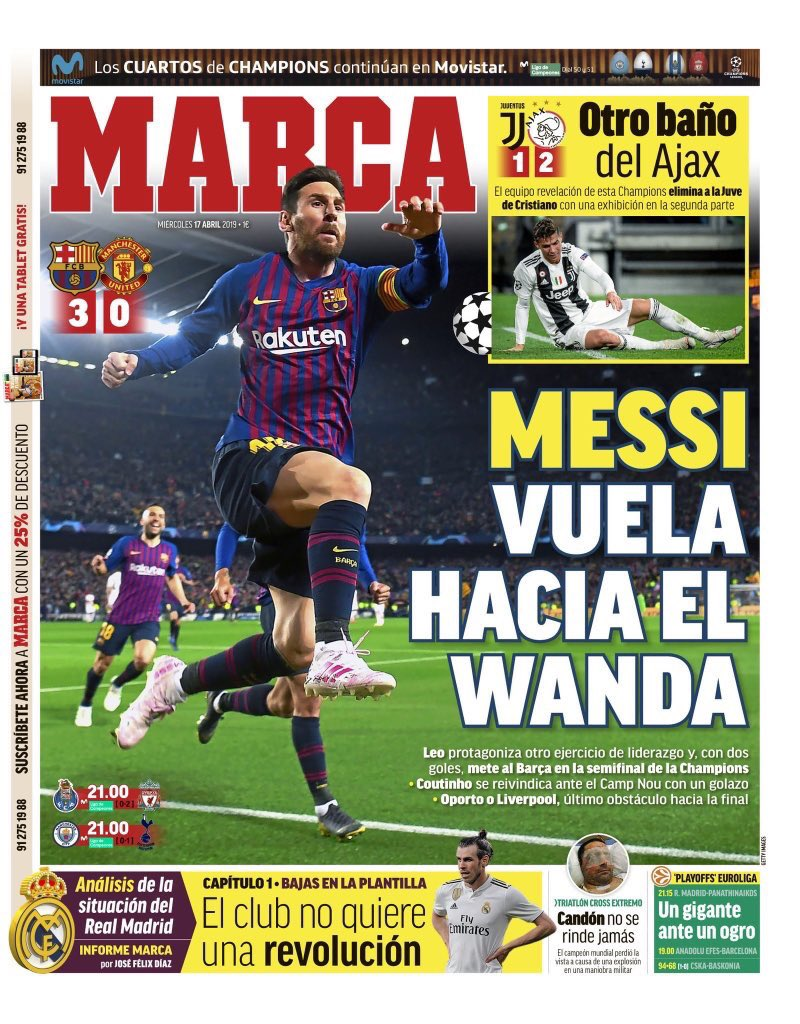 Marca Champions League Barcelona Man Utd