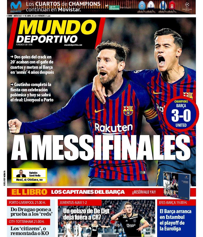 Mundo Deportivo Champions League Barcelona Manchester United