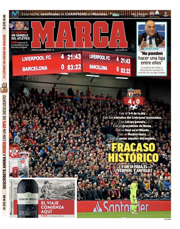 Marca Headline Barcelona Liverpool