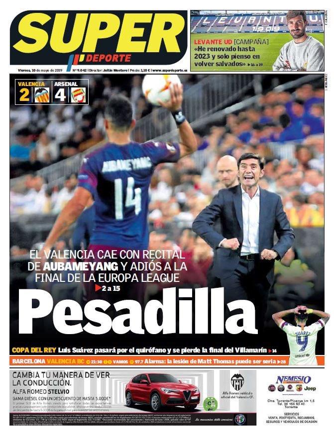 Super Deporte Headline Valencia vs Arsenal