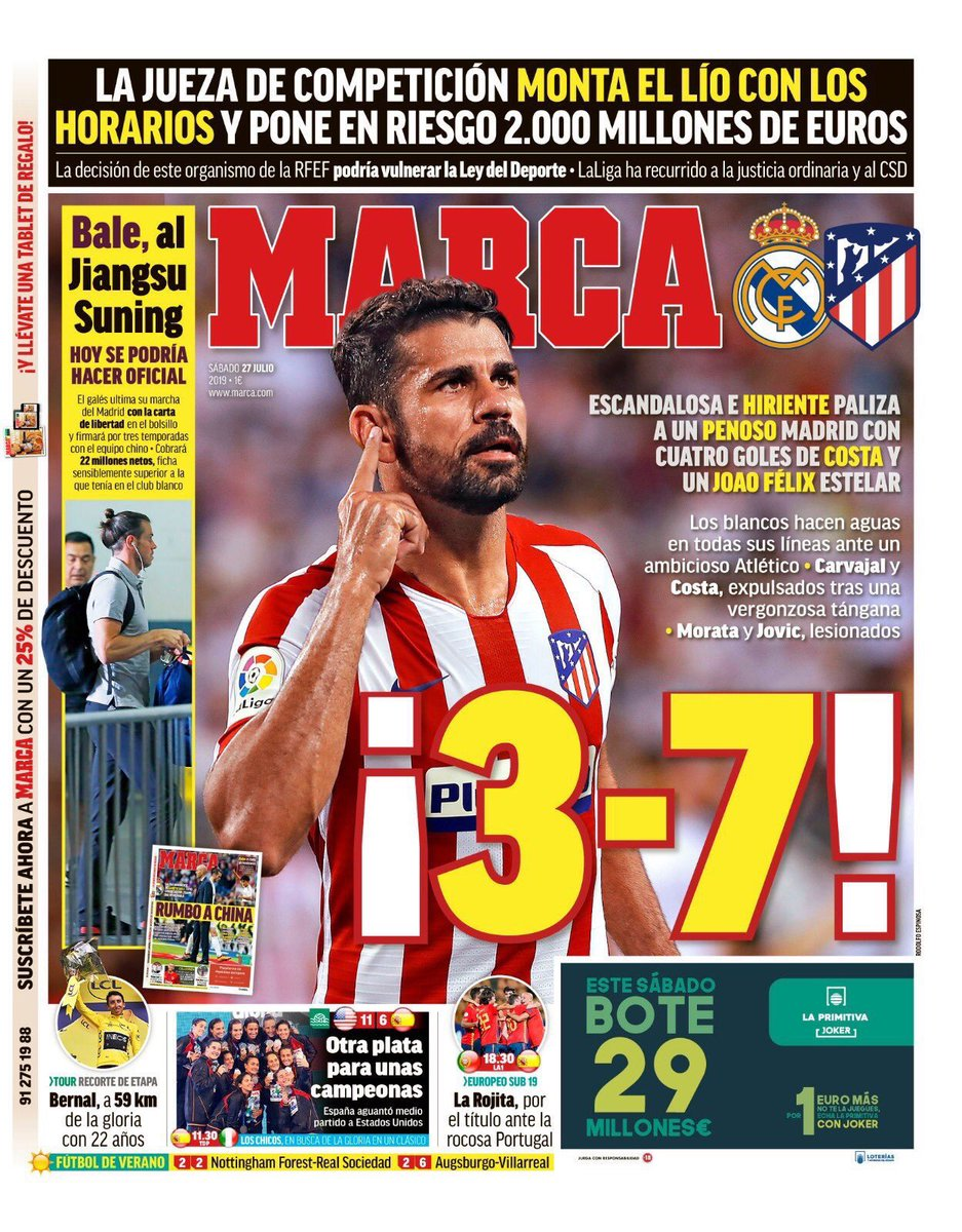 Marca Reaction Real 3-7 Atleti