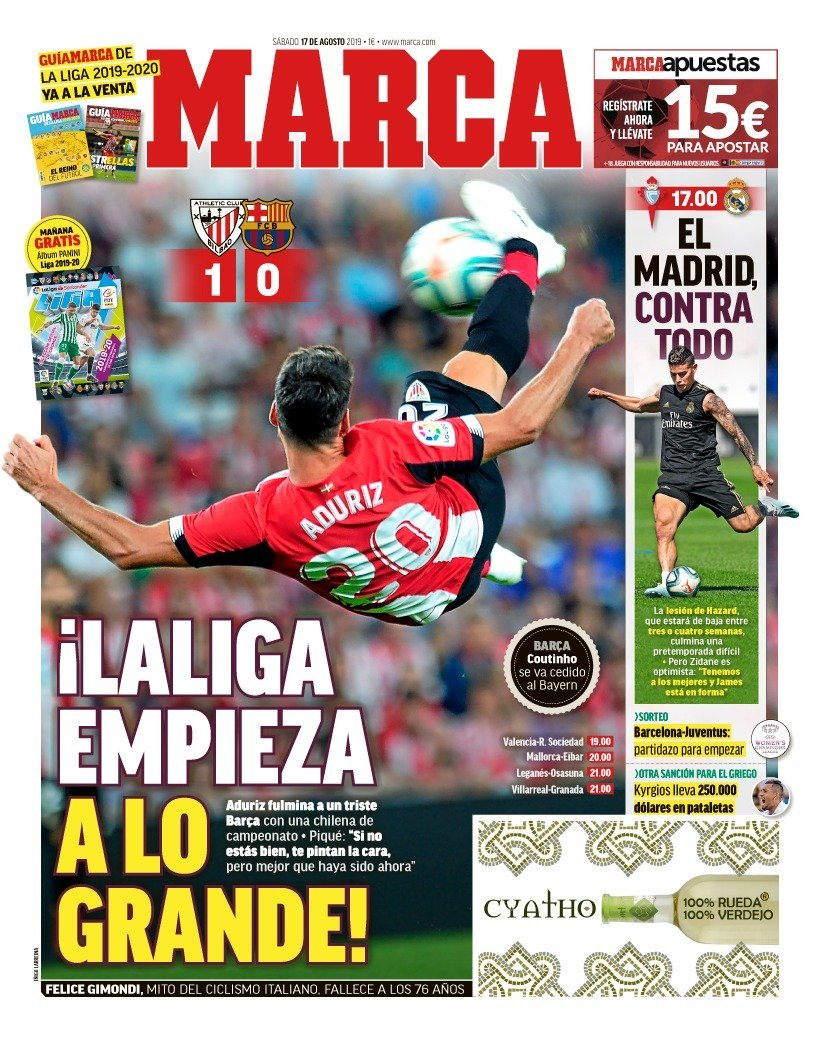 Marca Athletic 1-0 Barcelona