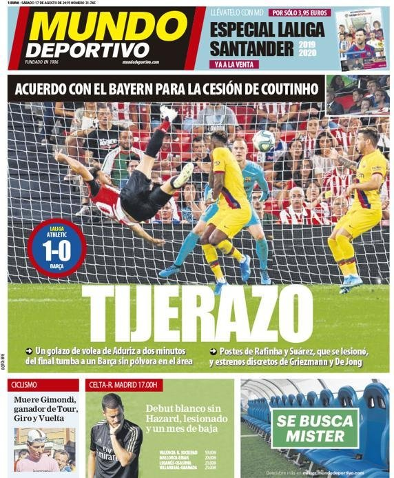 Mundo Headline Athletic 1-0 Barcelona