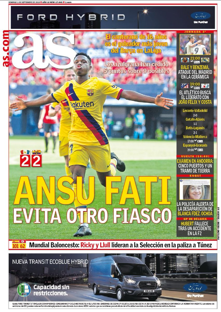 Ansu Fati AS Headline
