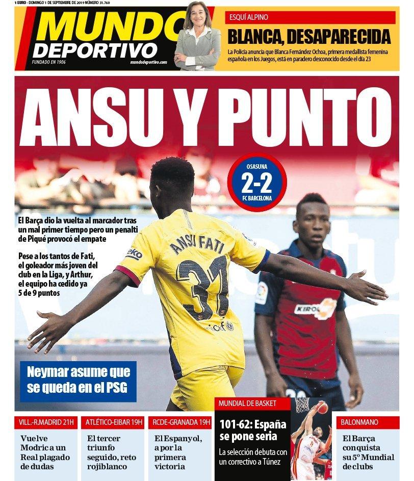Mundo Deportivo Headline Ansu